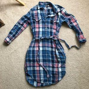 Plaid Gap Shirt Dress
